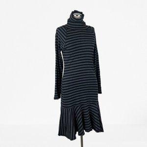 Ralph Lauren Size Small Striped Turtlneck Dress